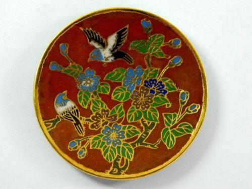 "Vintage 3/"" /& 4/"" Cloisonne Copper Enamel Dish Plate Tray,Decoration or Actual Use"