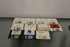 Lot-of-11-Microsoft-Word-5-1-for-Windows-3-5-034-disk-Mindset-SUM-ll