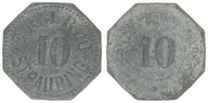 Straubing, 10 Pfennig, 10. bay. res. inf. Reg ss 57357