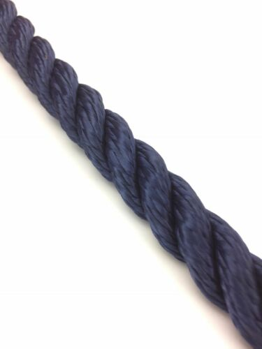 14mm Navy Blue 3 Strand Multifilament x 10 Metres Softline Rope Floating Rope