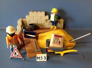 CHANTIER Lot de 2 Briques Parpaing Gris Set 4138 Q1269 PLAYMOBIL