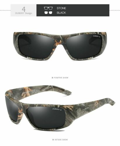 DUBERY Men/'s Woman/'s Camouflage Polarized Hunting Fishing Outdoor Sunglasses