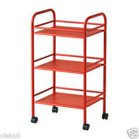 Ikea Cart Storage Rolling Kitchen Draggan Red Brand