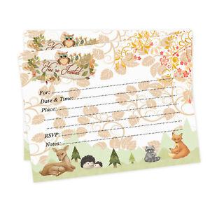 Baby-Shower-Invitations-Woodland-Boy-Girl-Invites-Fall-Owl-Deer-Fox-Invites-20