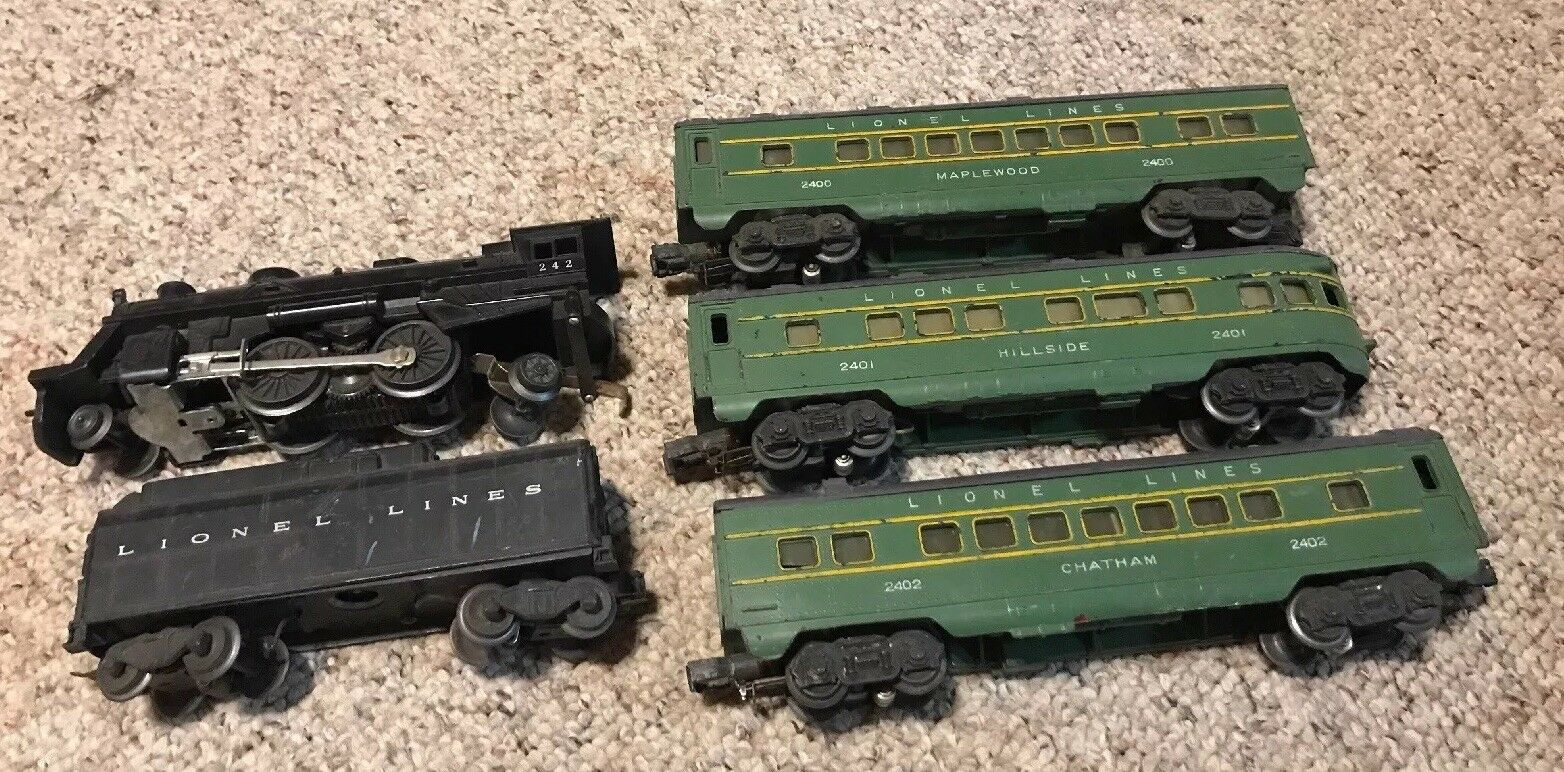 Lionel 2140WS 1948 Outfit Engine 242 Cars 2400 2401 2401 Train Cars