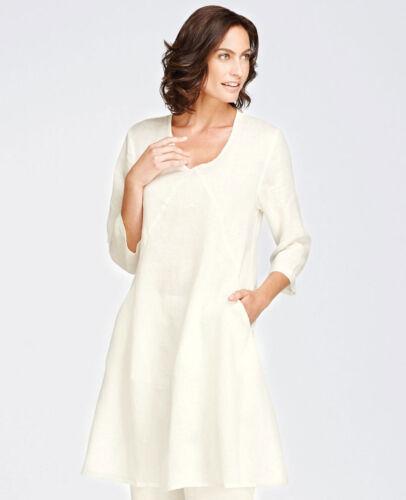 FLAX Designs   1G   LINEN DRESS    NWOT  XSpecially Nice MILK