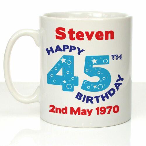 Personalised Birthday Gift Mug 45th 46th 47th 48th 49th Uncles Birthday Presents