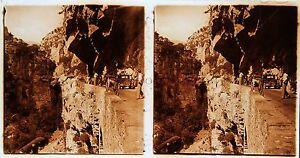 Pratique Les Gorges Du Cians Stéréo Amateur Plaque De Verrepos. 1934 Vintage Excellente Qualité