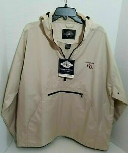 Mens-Pull-Over-Light-Weight-Jacket-Charles-River-Wind-Breaker-Seagrams-VO-Golf