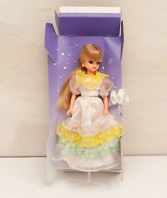 TAKARA LICCA Doll 1984 3rd Party dress Very RARE Vintage RIKA CHAN USED F//S JP