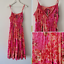 Vtg-90s-Peace-Angel-Pink-Floral-Leopard-Print-Cotton-Maxi-Dress-M-Cut-Out-Boho thumbnail 1