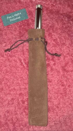 Luxurious *BROWN* Velvet Pen Pouch for ALL Types of WRITING Tools BRAND NEW!!