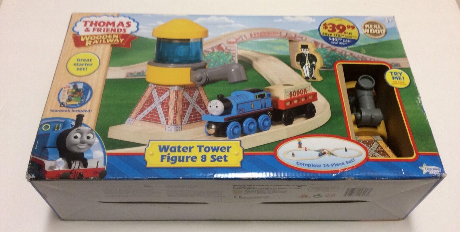NEW Thomas & Friends Wooden Railway Water Tower Figure 8 Set Train Tracks