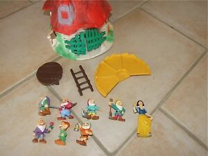 Maison blanche neige les 7 nains figurines bully ebay - Maison blanche neige et les 7 nains ...