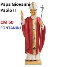 Statua religiosa FONTANINI papa giovanni paolo II veste rossa cm 50 in resina