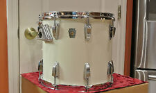 """CHICAGO ERA 1980s LUDWIG 13"""" CLASSIC TOM in WHITE CORTEX for DRUM SET LOT #G753"""