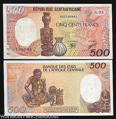 CENTRAL AFRICAN REPUBLIC 500 FRANCS 1991 P 14 UNC