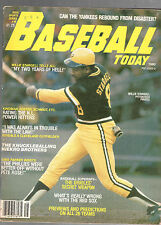 1980 BASEBALL TODAY MAGAZINE YEARBOOK-WILLIE STARGELL-PITTSBURGH PIRATES