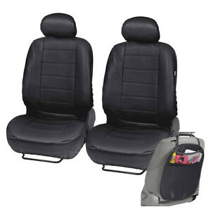 PU Leather Car Seat Covers For Auto Black Front Seat W