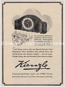Kienzle-Uhren-No-505-285-I-Tischuhr-Werbung-1939