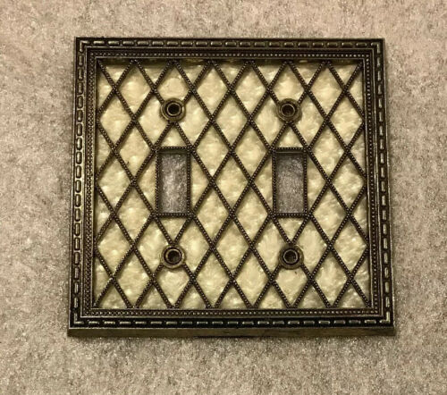 Vintage American Tack 1976 Dual Double Light Switch Cover Plate  28TT