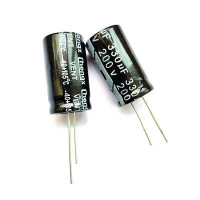 5PCS 200V 330uF 200Volt 330MFD Electrolytic Capacitor 18×30 NEW