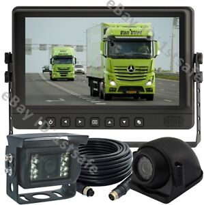 """7/"""" HD MONITOR BACKUP REAR SIDE VIEW REVERSE CAMERA SYSTEM FOR AG TRUCK RV Bus"""