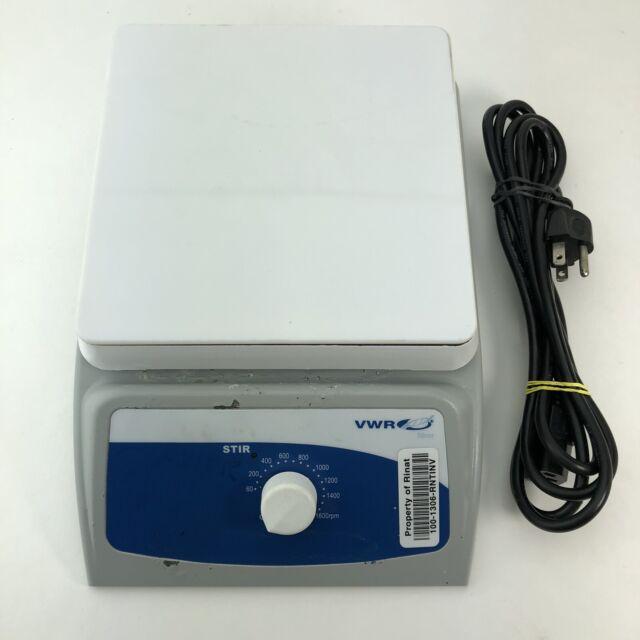 """VWR 620 7"""" x 7"""" Standard Magnetic Stirrer Ceramic Top 60-1600rpm 120v 12365-380"""