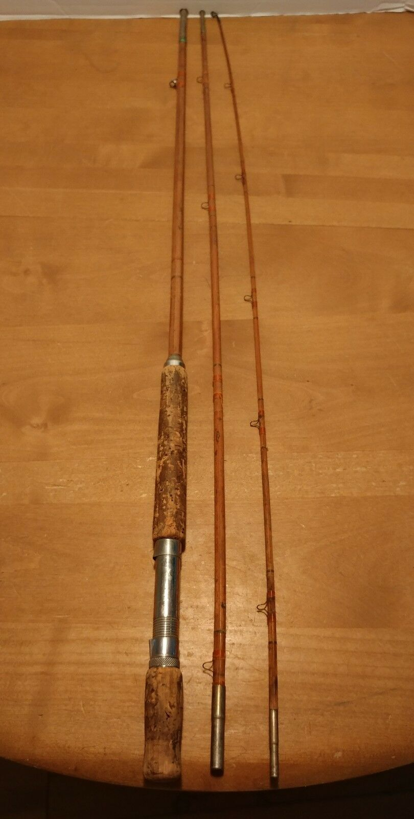 Vintage Bamboo Fly Rod 1940's  Scotland 3 Piece 9.5  ft No Markings 10.25oz  good quality