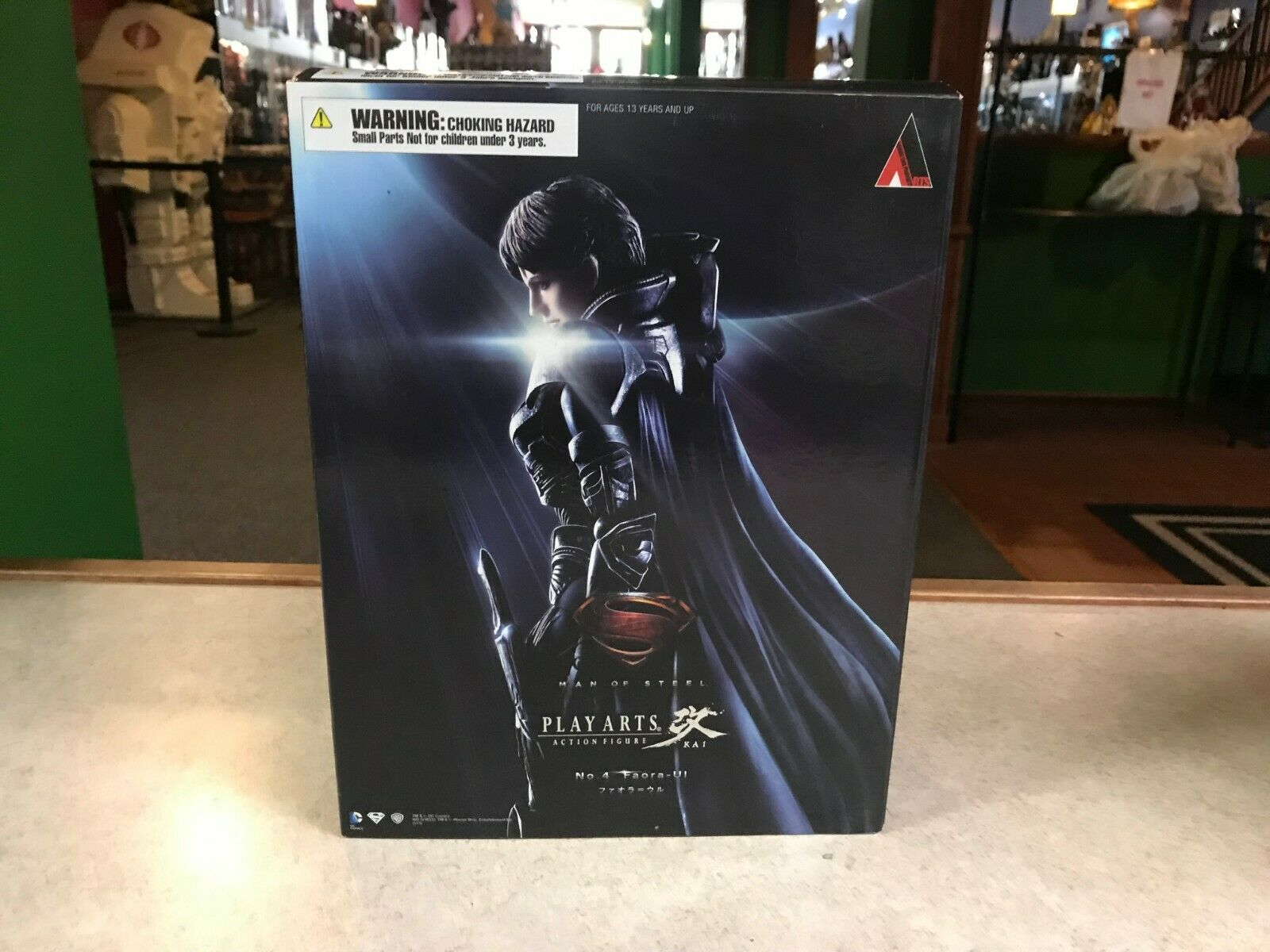 2013 Play Arts Kai DC Superman of Steel FAORA-UI Action Figur nr. 4 NIB