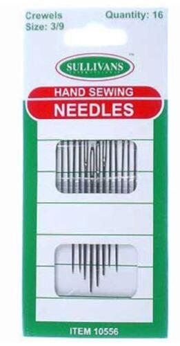 Crewel Needles Size 3 to 9