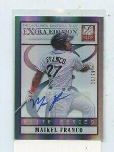 MAIKEL-FRANCO-2013-PANINI-ELITE-EXTRA-EDITION-ELITE-SERIES-AUTO-AUTOGRAPH-D-99