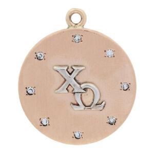 16ctw-Single-Cut-Diamond-Chi-Omega-Pendant-14k-Yellow-Gold