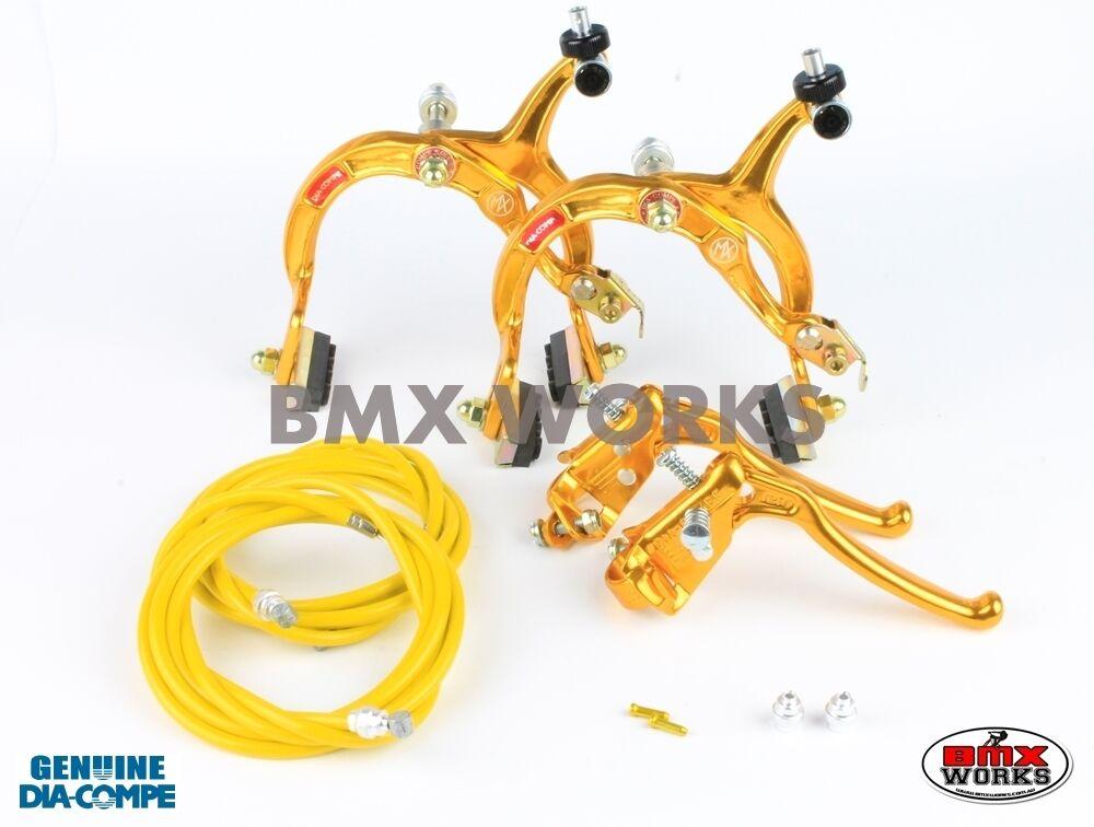 Dia-Compe MX1000 - MX128 (Tech-6) gold Brake Set  Old Vintage School BMX  sale online discount low price