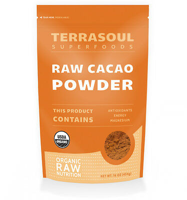 Raw Organic Cacao Powder, 1 lb. Bag (16 ounces)