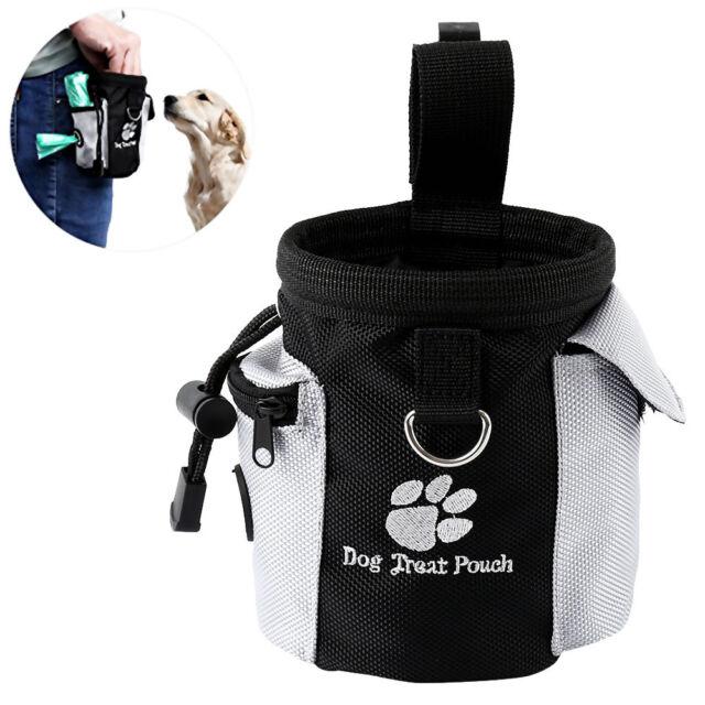Dog Treat Bag Poo Bags Holder Dispenser Pouch Waist Belt Pet Training Walking AU