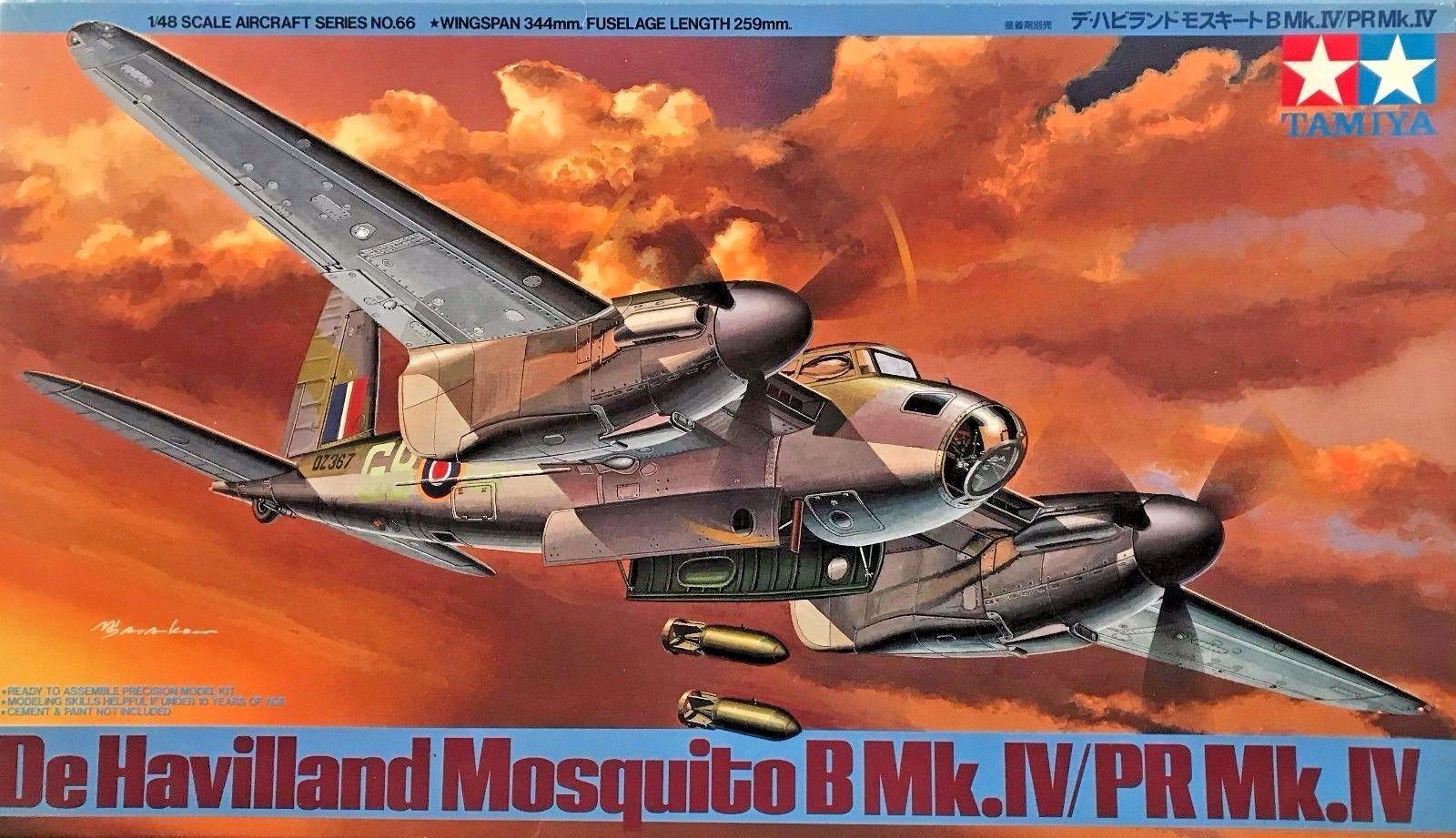 Mosquito B Mk.IV   PR Mk.IV - 1  48 flygagagplan modellllerlerl Kit - Tamiya 61066