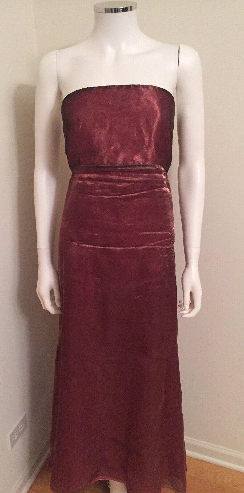 DKNYC Women's Metallic Mesh Purple Dress Streepless Size 6