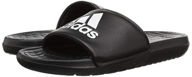 46c0f883741c9 Men Adidas Voloomix Slide Sandal CP9446 Black White Black 100 % Original New