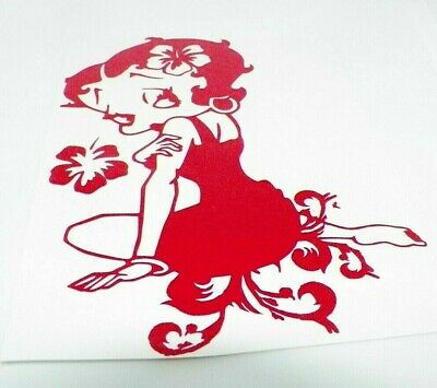 betty boop bike  sticker vinyl decal for car and others FINISH GLOSSY