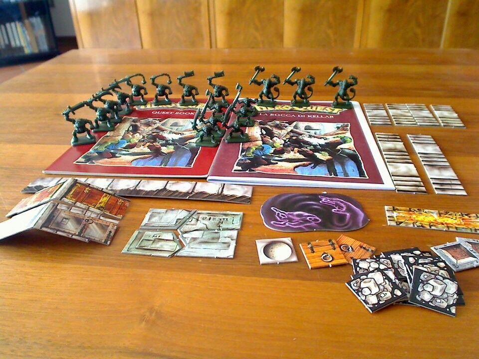 Kellar's Keep Heroquest Hero Quest UK edition no box Rocca di Kellar