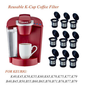9pcs Black Refillable Reusable Single K Cup Filter Pod For Keurig