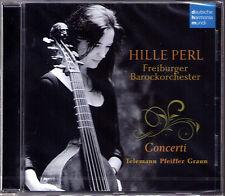 Hille PERL: TELEMANN ABEL PFEIFFER GRAUN Viola da Gamba Concerti CD Müllejans