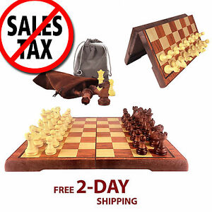 Wood-Chess-Wooden-Magnetic-Board-Hand-Crafted-Folding-Chessboard-Travel-Game-Set