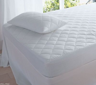 Mattress Protector Quilted Single Super King Size 4ft