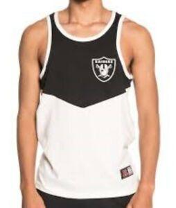 outlet store 13ba4 f3702 Details about NFL Oakland Raiders Vest Mens Tank Top T Shirt Official  Apparel Jersey