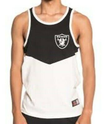 New Oakland Raiders Men/'s NFL Apparel Poly Vest Top XXL Grey