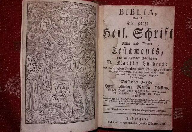 BIBLIA Die ganze heilige Schrift nach der teutschen Übersetzung D.Martin Luthers