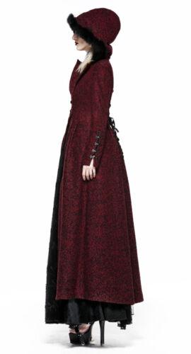 Lolita in inverno cappotto pelliccia Punkrave Lungo con vittoriano cappuccio cappotto gotico ZvgWEqfw1E