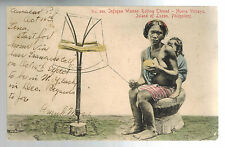 1907 Cavite Philippines RPPC Postcard Cover to USA Native WOman Sewing Thread